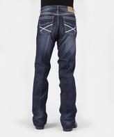 Stetson Blue Heavy Stitch Straight-Leg Jeans - Men's Regular