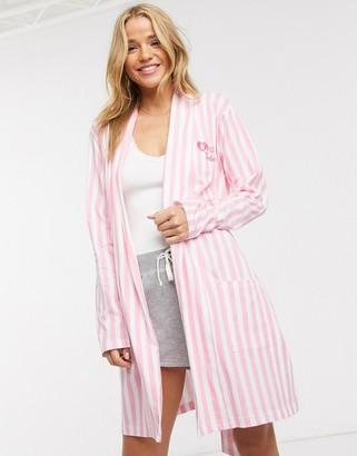 Brave Soul bride tribe robe in pink stripe