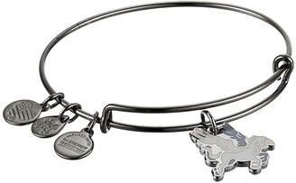 Alex and Ani Buckbeak Bangle Bracelet (Midnight Silver) Bracelet