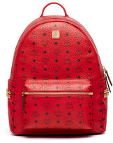 MCM Stark Men's Side Stud Medium Backpack, Ruby Red