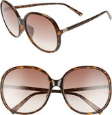 Givenchy 63mm Oversize Gradient Round Sunglasses