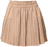 Apiece Apart pleated mini skirt - women - Linen/Flax/Lyocell - 0