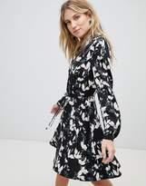 Oasis Blossom Print Skater Shirt Dress