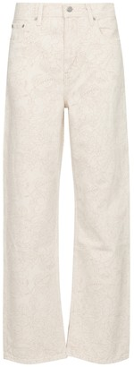 Ganni x Levi's floral high-rise straight jeans