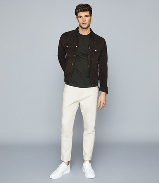 Reiss Olympias - Tapered Fit Jeans in Ecru