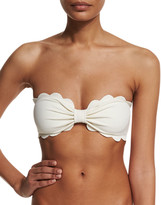 Marysia Swim Antibes Scalloped Bandeau Swim Top