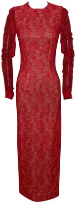 Alessandra Rich \N Red Lace Dresses