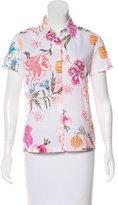 Dries Van Noten Floral Print Button-Up Top