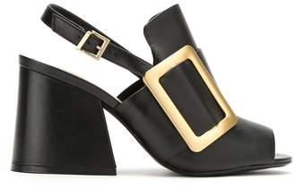 Schutz oversized buckle sandals