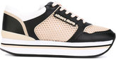 Armani Jeans panelled sneakers - women - Polyester/Synthetic Resin/rubber - 37