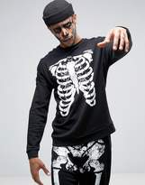 Asos Halloween Sweatshirt With Skeleton Print