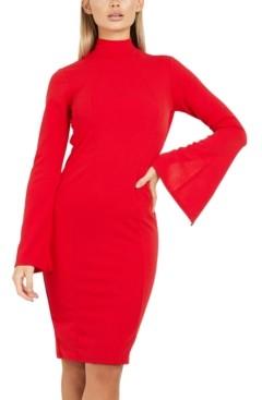 Quiz Flared-Sleeve Bodycon Dress