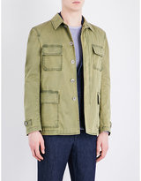 Lardini Faded Stretch-cotton Field Jacket