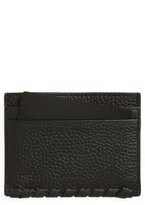 AllSaints Women's Kita Pebbled Leather Card Case - Black