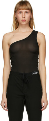 Ann Demeulemeester SSENSE Exclusive Black God of Wild One Shoulder Tank Top
