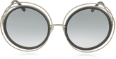 Chloé CARLINA CE 120S Round Oversized Acetate & Metal Women's Sunglasses