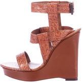 Bottega Veneta Alligator Wedge Sandals