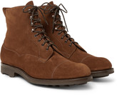 Edward Green - Galway Cap-toe Suede Boots