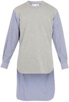 Comme des Garcons Contrast-front step-hem cotton top