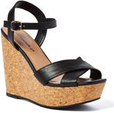 Black Malia Wedge Sandal