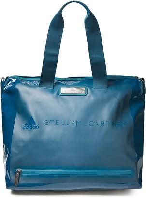 adidas by Stella McCartney Studio Faux Patent-leather Gym Bag