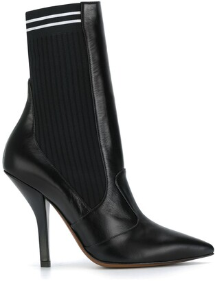 Fendi Ribbed Sock Boots