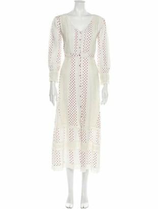 LoveShackFancy Lace Pattern Long Dress