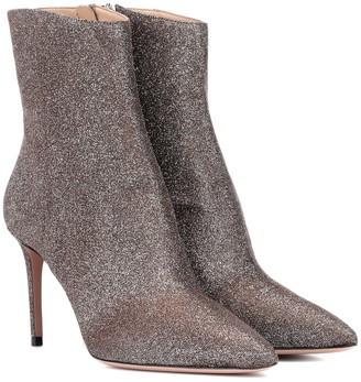 Aquazzura Alma 85 glitter ankle boots