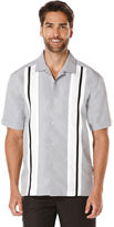 Cubavera Big & Tall Short Sleeve Tri Color Panel Shirt