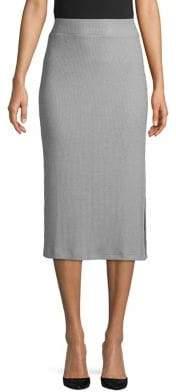 En Thread Ribbed High-Rise Pencil Skirt