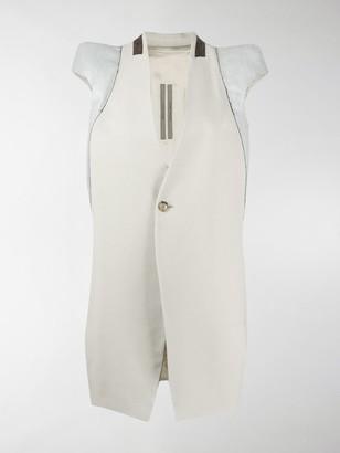 Rick Owens Structured-Shoulder Waistcoat