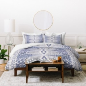Deny Designs Holli Zollinger French Linen Tribal Ikat Twin Duvet Set Bedding