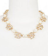 Kate Spade Blushing Blooms Faux-Pearl Collar Necklace