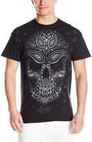 Liquid Blue Men's Bandana Skull T-Shirt