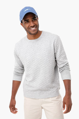 Holderness & Bourne Gray Ward Quilted Sweater