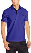 U.S. Polo Assn. Men's Slim-Fit Solid Pique Polo Shirt