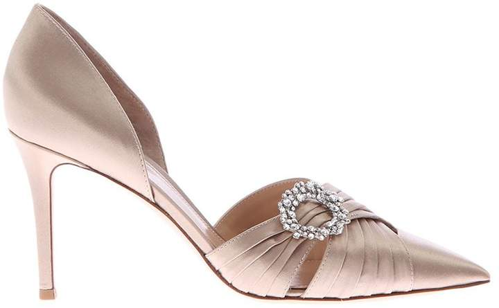Gianvito Rossi Beige Pumps With Embellished Detail