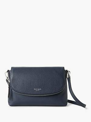 Kate Spade Polly Leather Large Flap Over Cross Body Bag