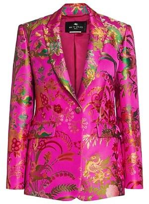 Etro Panarea Jacquard Floral Blazer Jacket