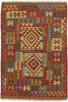 Ecarpetgallery eCarpet Gallery 194144 Hand-Woven Anatolian Kilim Geometric 3' x 4' 100% Wool Area Rug