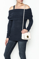 Solemio Cold Shoulder Sweater