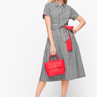 Talbots Gingham Shirt Dress