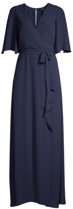 BCBGMAXAZRIA Wrap Capelet Gown