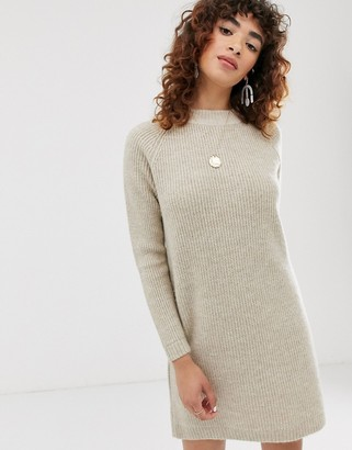 Only long sleeve jumper dress-Grey