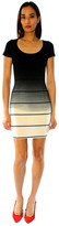 Saint Grace Sunset Stripe Clover Mini Dress In Black Ombre Wash