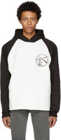 Enfants Riches Deprimes Black and White Contrast Sleeve Logo Hoodie