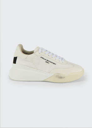 Stella McCartney Runner Faux-Leather Platform Tennis Sneakers
