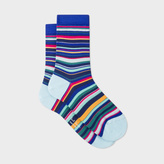 Paul Smith Women's Navy Multi-Stripe Socks