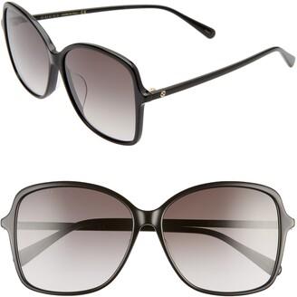 Gucci 60mm Rectangular Sunglasses