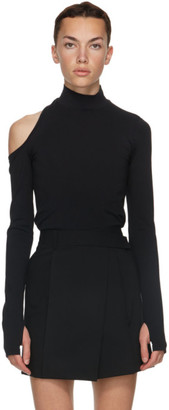 Helmut Lang Black Cutout Turtleneck
